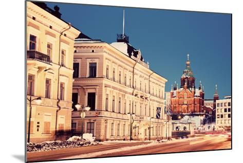 Evening in Helsinki - View from Market Square-benkrut-Mounted Photographic Print