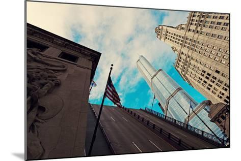 Michigan Avenue Bridge, Wrigley Building and Trump Tower-benkrut-Mounted Photographic Print
