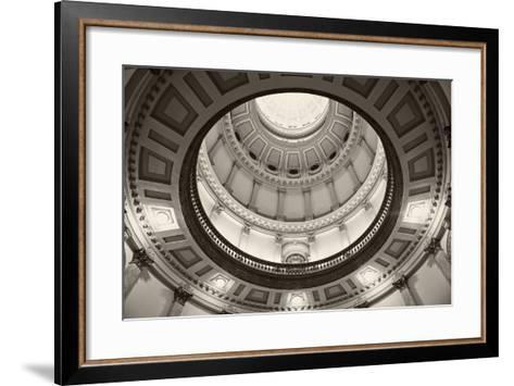 Denver, Colorado - State Capitol Building-benkrut-Framed Art Print