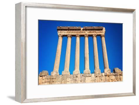 Baalbek Ruins-benkrut-Framed Art Print
