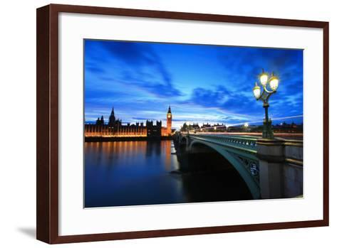 Big Ben London at Night-aslysun-Framed Art Print