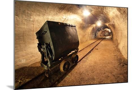Underground Train in Mine, Carts in Gold, Silver and Copper Mine.-TTstudio-Mounted Photographic Print