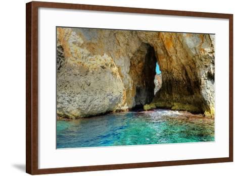 Blue Grotto Caves-Diana Mower-Framed Art Print