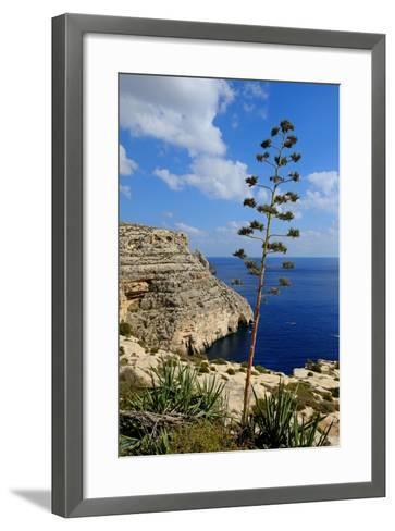 Blue Grotto Coast Malta-Diana Mower-Framed Art Print