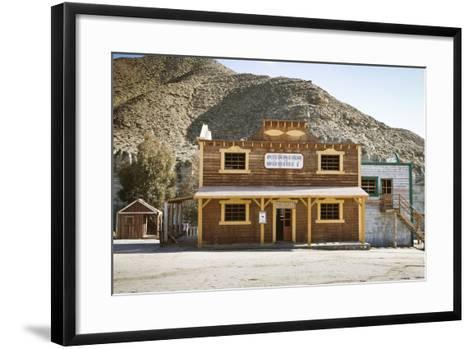 Wild West Town-aluxum-Framed Art Print
