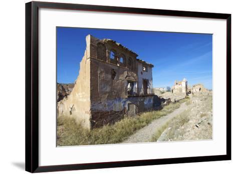 Belchite Village Destroyed in a Bombing during the Spanish Civil War, Saragossa, Aragon, Spain-pedrosala-Framed Art Print