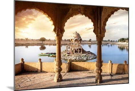 Temple on the Water in India-Marina Pissarova-Mounted Photographic Print