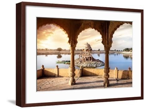 Temple on the Water in India-Marina Pissarova-Framed Art Print