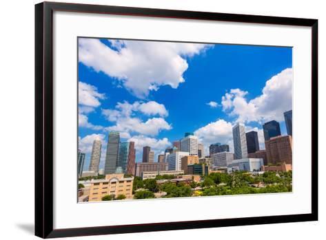 Houston Skyline from South in Texas US USA-holbox-Framed Art Print