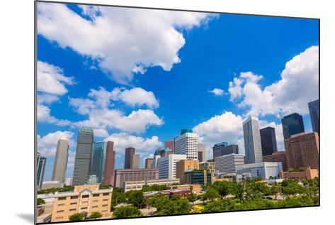 Houston Skyline from South in Texas US USA-holbox-Mounted Photographic Print