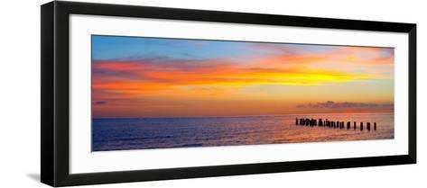 Sunset or Sunrise Landscape Panorama of Beautiful Nature Beach-Fotomak-Framed Art Print
