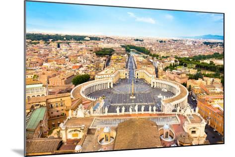 Saint Peter's Square in Vatican, Rome, Italy.-kasto-Mounted Photographic Print