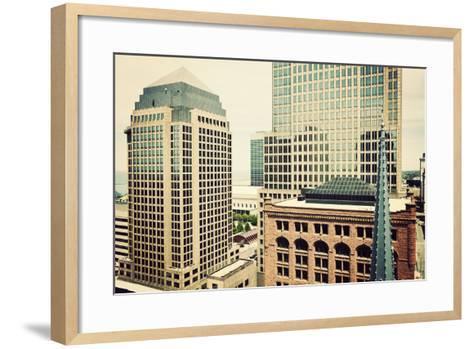 Downtown Cleveland-benkrut-Framed Art Print