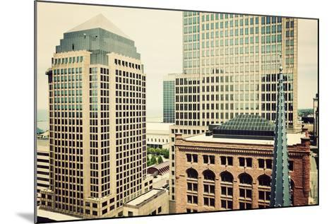 Downtown Cleveland-benkrut-Mounted Photographic Print