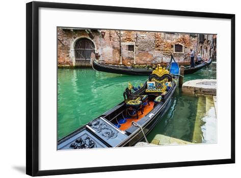 Tourists Travel on Gondolas at Canal-Alan64-Framed Art Print