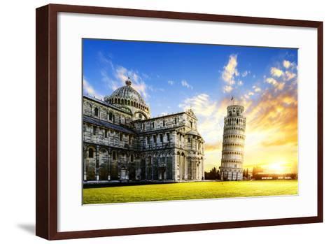 Pisa City-vent du sud-Framed Art Print