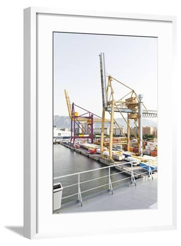 Shipping Containers in Palermo-lachris77-Framed Art Print