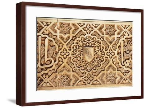 Interior of Alhambra Palace, Granada, Spain-lubastock-Framed Art Print