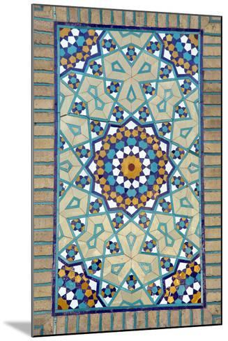 Tiled Mosque - Iran - Tomb of Hazrat Abdul Azim Hasani-saeedi-Mounted Photographic Print