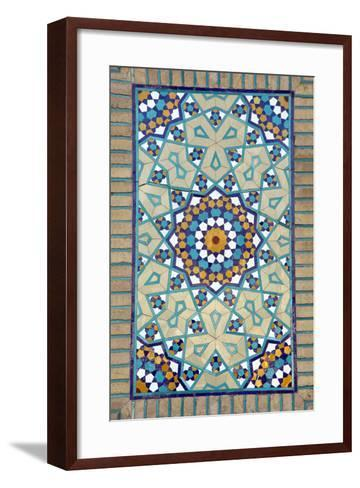 Tiled Mosque - Iran - Tomb of Hazrat Abdul Azim Hasani-saeedi-Framed Art Print