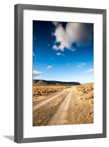 Karoo Desert Gravel Road-dan-edwards-Framed Art Print