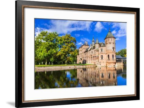 Beautiful De Haar Castle, Holland-Maugli-l-Framed Art Print