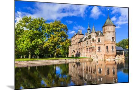 Beautiful De Haar Castle, Holland-Maugli-l-Mounted Photographic Print