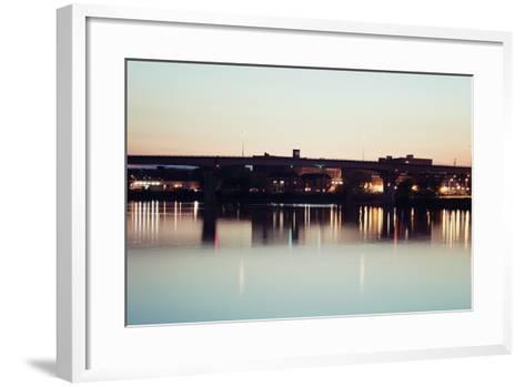 Bridge in Peoria-benkrut-Framed Art Print