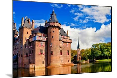 Beautiful Romantic Holland Castle on Water De Haar-Maugli-l-Mounted Photographic Print