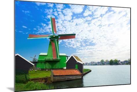 Authentic Zaandam Mills on the Water Channel-SerrNovik-Mounted Photographic Print