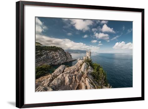 Decorative Swallow's Nest Castle Overlooking the Black Sea.-Yury Dmitrienko-Framed Art Print