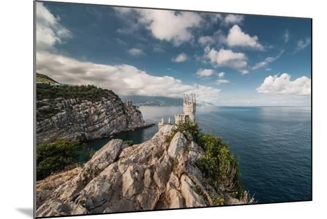 Decorative Swallow's Nest Castle Overlooking the Black Sea.-Yury Dmitrienko-Mounted Photographic Print