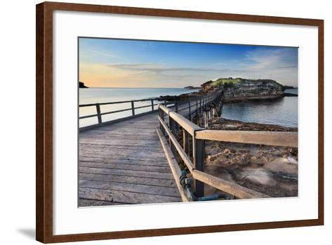 Sunrise at Bare Island Australia-lovleah-Framed Art Print