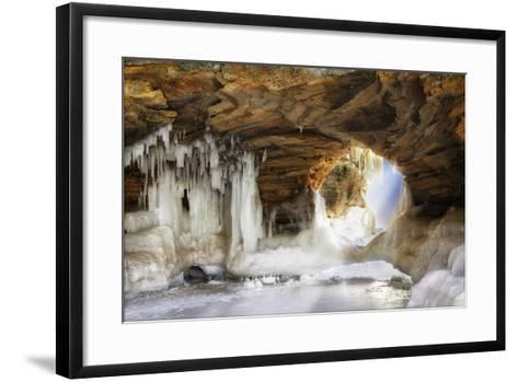 Ice Arch-dendron-Framed Art Print