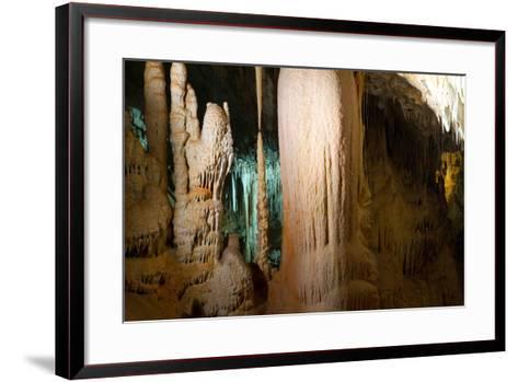 Stalactite Stalagmite Cavern-sergey02-Framed Art Print