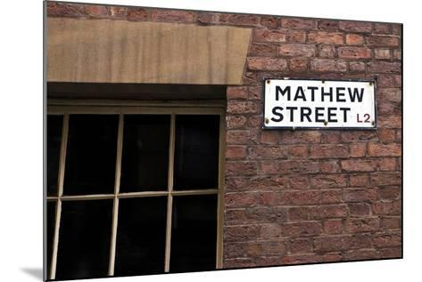 Mathew Street Sign in Liverpool-chrisd2105-Mounted Photographic Print