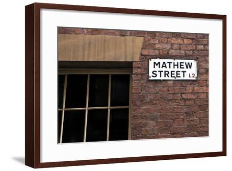 Mathew Street Sign in Liverpool-chrisd2105-Framed Art Print