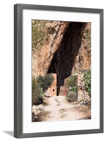 Mangiapane Cave, Sicily : A Village in A Cavern-Spumador-Framed Art Print