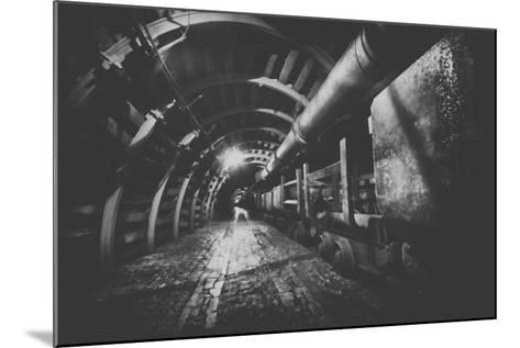 Underground Train in Mine, Carts in Gold, Silver and Copper Mine.-irontrybex-Mounted Photographic Print