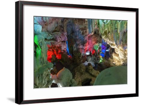 Cavern on Island, Ha_Long Bay, Vietnam-Maks08-Framed Art Print