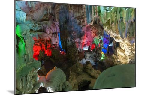 Cavern on Island, Ha_Long Bay, Vietnam-Maks08-Mounted Photographic Print