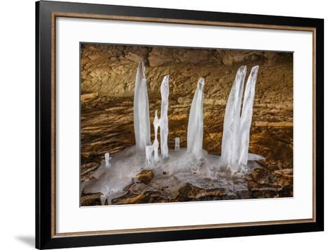 Cave Ice-KennethKeifer-Framed Art Print