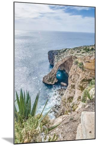 Blue Grotto on the Southern Coast of Malta.-Anibal Trejo-Mounted Photographic Print