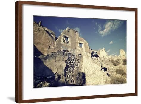Roden Village Destroyed in a Bombing during the Spanish Civil War, Saragossa, Aragon, Spain-pedrosala-Framed Art Print