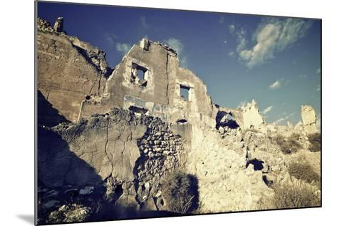Roden Village Destroyed in a Bombing during the Spanish Civil War, Saragossa, Aragon, Spain-pedrosala-Mounted Photographic Print