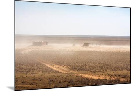 Abandoned Barn in the Desert-dmitriyGo-Mounted Photographic Print