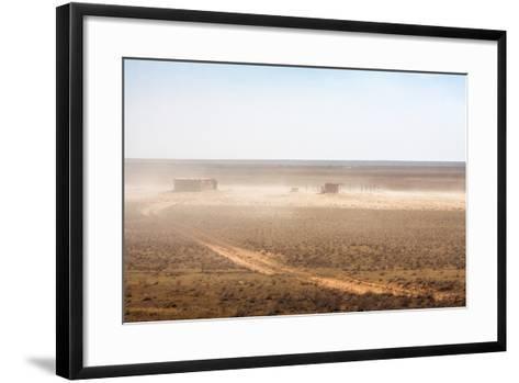 Abandoned Barn in the Desert-dmitriyGo-Framed Art Print