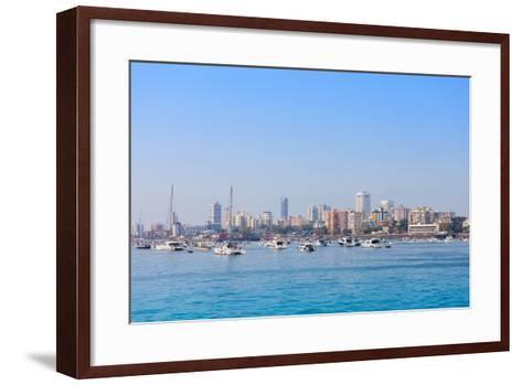 Mumbai Skyline-saiko3p-Framed Art Print
