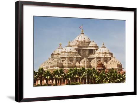 Facade of a Temple, Akshardham, Delhi, India-jackmicro-Framed Art Print