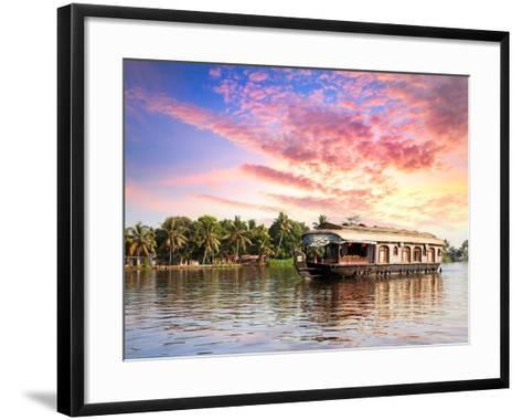 House Boat in Backwaters-Marina Pissarova-Framed Art Print
